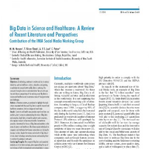 Big Data in Science and Healthcare: A Review of Recent Literature and Perspectives