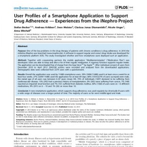 User Profiles of a Smartphone Application to Support Drug Adherence — Experiences from the iNephro Project